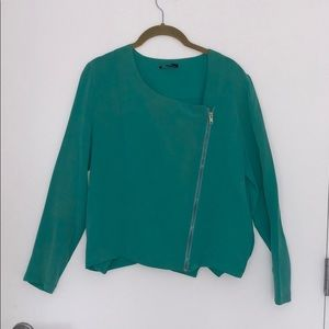 Tops - Turquoise Silk Blouse Top